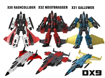 DX9Toys War in Pocket X30 RASHCOLLIDER, X31 GALLOWER, and X32 NOISYBRAGGER
