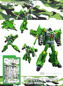 Iron Factory EX20G WING OF TYRANT (GREEN)