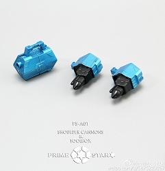 Prime Star PS-A01 Tool box / Shoulder Cannons for MP Wheeljack