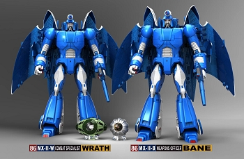 X-Transbots MX-II WRATH and BANE (2-pack)