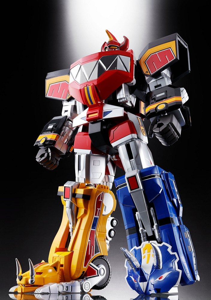 bandai soul of chogokin gx 72 megazord mighty morphn. Black Bedroom Furniture Sets. Home Design Ideas
