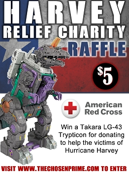 The Chosen Prime / Red Cross Charity Effort - Win Takara LG-43 Trypticon