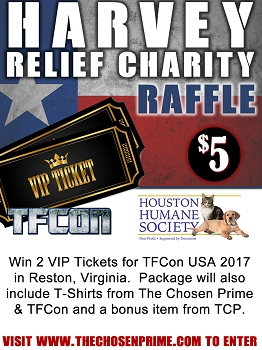 The Chosen Prime / Houston Humane Society Charity Effort - Win Two TFCON VIP Tickets
