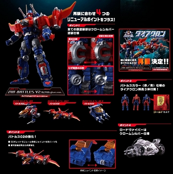 Takara Diaclone Reboot - DA-11 DIA-BATTLES V2 ALPHA PLUS Version