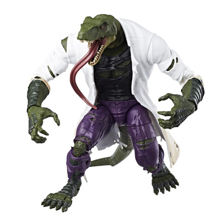 marvel legends spiderman baf lizard