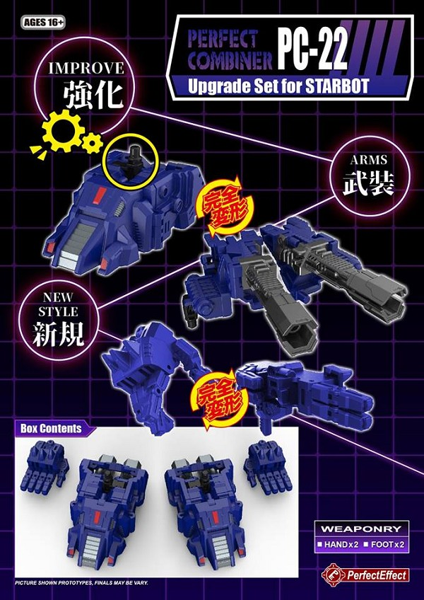 Perfect Effect PC-22 Perfect Combiner Upgrade Kit for POTP Starbot