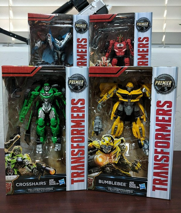 Hasbro The Last Knight - Premier Edition Deluxe Bumblebee, Crosshairs, Drift, and Strafe Set