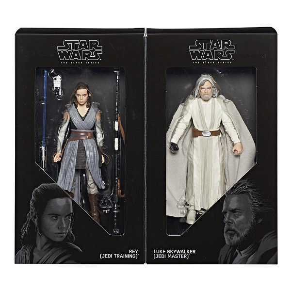 SDCC 2017 Star Wars Black Series Luke (Jedi Master)  & Rey (Jedi Training) Set