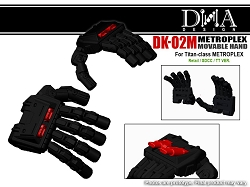 DNA Design DK-02M Articulated Hands for Titan Class Metroplex