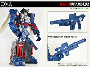 DNA Design DK-03 Gear Master Accessory Series for TR-FM Retail/Sdcc/TT Ver.