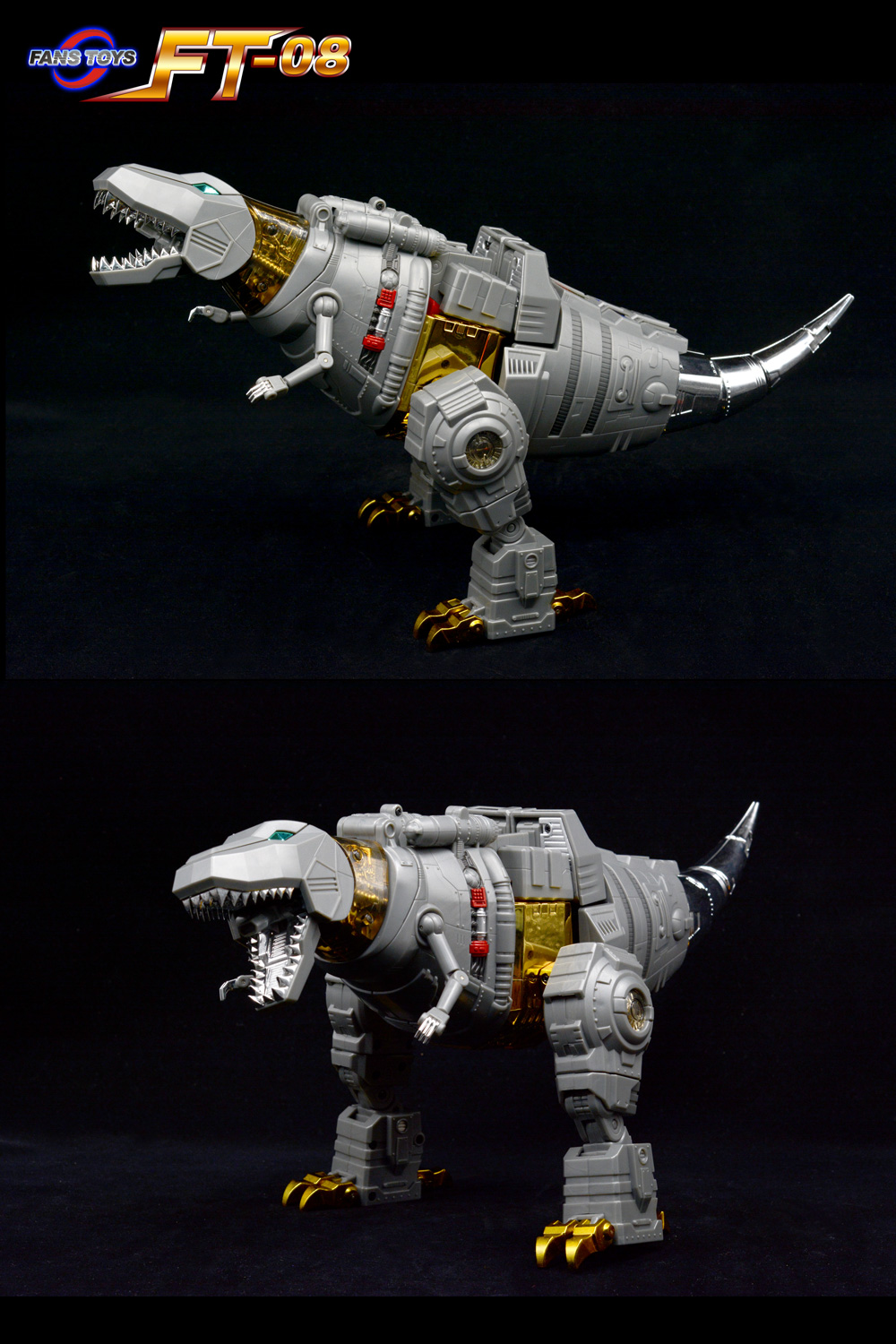 Fans Toys FT-08 Grinder Iron Dibots No.5 G1 Dino Head Only Masterpiece Scaled