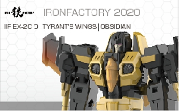 Iron Factory EX20O Tyrant's Wings OBSIDIAN