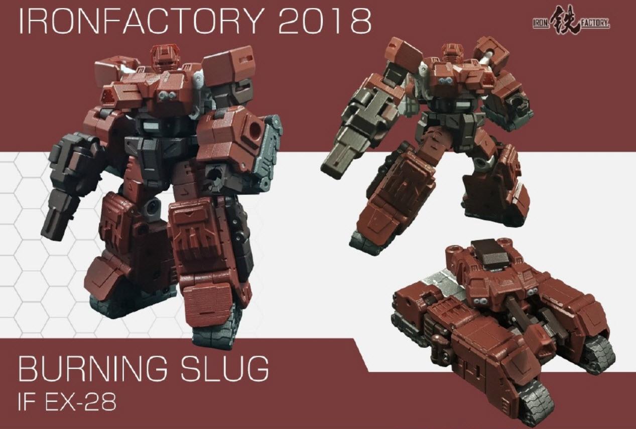 Transformer toy Iron Factory IF-EX28 Burning Slug G1 Warpath Action figure Toy