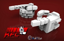 KFC Toys Articulated hands for MP-24 Star Saber (White)