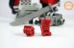 KFC Toys KP-10 Articulated Red Hands for MP-12G/14 G2 Lambor/Sideswipe/Red Alert