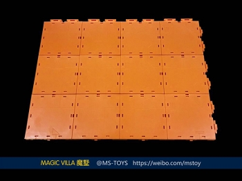 Magic Square Toys Magic Villa Orange Background/Base Plates (6pcs)