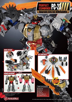 Perfect Effect PC-23 Perfect Combiner Upgrade Kit for POTP Dinobots