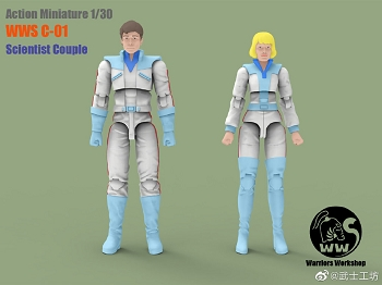 Warriors Workshop C-01 SCIENTIST COUPLE 1/30 Scale
