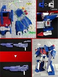 X2Toys XT007B Blaster and Shoulder Upgrade kit for MP-22 Ultra Magnus