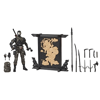 G.I. Joe Classified Series SNAKE EYES Deluxe Figure Set.