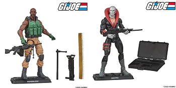 G.I. Joe Retro Series Roadblock and Destro Set