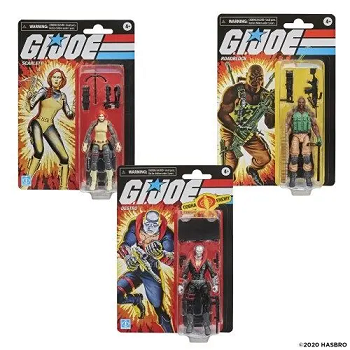 G.I. Joe Retro Series Scarlett, Roadblock, and Destro Set