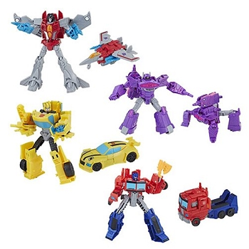Hasbro Transformers Cyberverse Wave 1 WARRIOR Class Set of 4