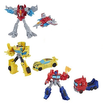 Hasbro Transformers Cyberverse Wave 1 WARRIOR Class Set of 3