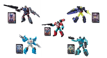 Hasbro Titans Return Full Deluxe Wave 4 Set - TOPSPIN, SERGEANT KUP, PERCEPTOR, QUAKE, & KROK (Set of 5)