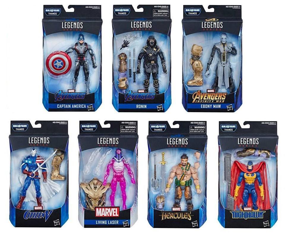Hasbro Marvel Legends Thanos BAF Avengers 6 Inch Action Figures Wave 3