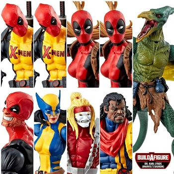 Marvel Legends Deadpool Wave 2 - BAF SAURON (Set of 8)