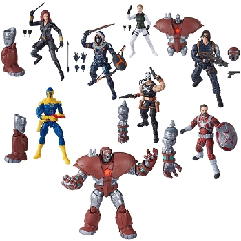 Marvel Legends BLACK WIDOW Wave 1 BAF Crimson Dynamo (Set of 7)