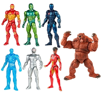 Marvel Legends Comics Iron Man Wave 1 - BAF Ursa Major (Set of 7)