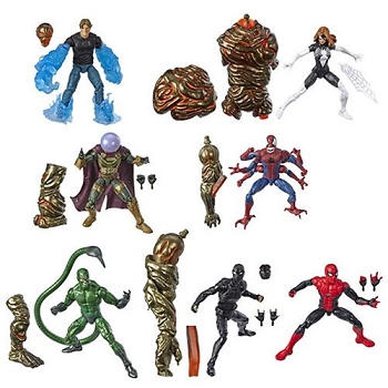 Marvel Legends Spider-Man Far from Home Wave 1 BAF Molten Man (Set of 7)