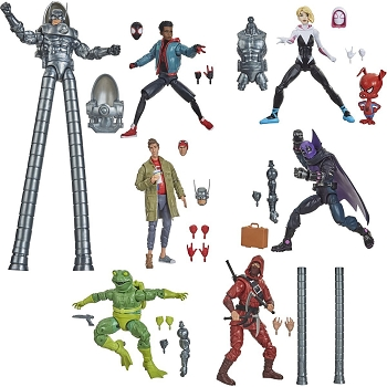 Marvel Legends Spider-Man: Into the Spider-Verse Wave 1 (Set of 6 - BAF Stiltman)