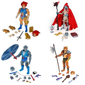 Super7 Thundercats Ultimates LION-O, MUMM-RA, PANTHRO, and JACKALMAN Set