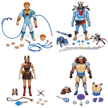 Super7 Thundercats Ultimates TYGRA, MUMM-RA, PUMYRA, and GRUNE the DESTROYER Set