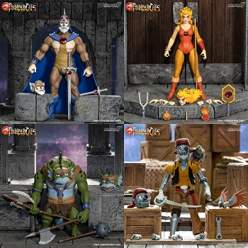 Super7 Thundercats Ultimates JAGA, CHEETARA, SLITHE, and CAPTAIN CRACKER Set
