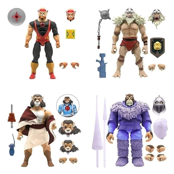 Super7 Thundercats Ultimates LYNX-O, PUMM-RA, MONKIAN, and SNOWMAN of Hook Mountain Set