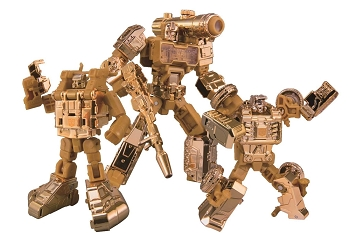 Takara Transformers 35th Anniversary - The Golden Lagoon PERCEPTOR, BEACHCOMBER, and SEASPRAY