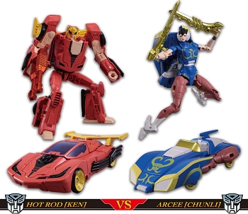 Takara STREET FIGHTER II x TRANSFORMERS KEN vs CHUN-LI