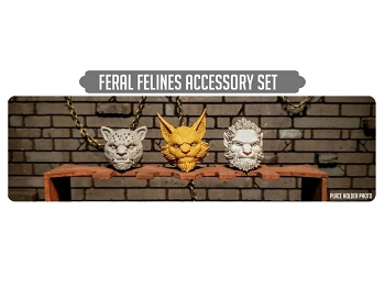 Spero Studios Animal Warriors of the Kingdom: Feline Heads Accessory Set