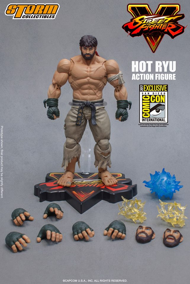 Storm Collectibles Street Fighter V Hot Ryu Sdcc 2017