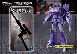 Takara Tomy - Masterpiece MP-29 LASERWAVE/SHOCKWAVE w/ Megatron Gun (Asia  Re-release)