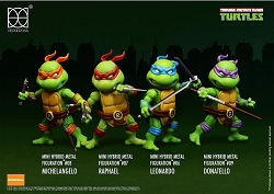 Herocross Teenage Mutant Ninja Turtles Hybrid Metal Figuration Mini-Figure Set