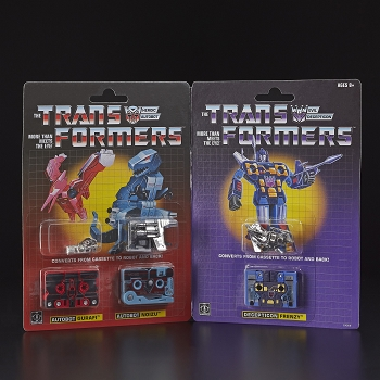 Transformers G1 Reissue GIRAFU, NOIZU, and FRENZY 3-Pack Cassette
