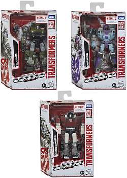 Netflix X Transformers: Siege Deluxe Class Wave 1 Set of 3 (Sideswipe, Hound, and Mirage)