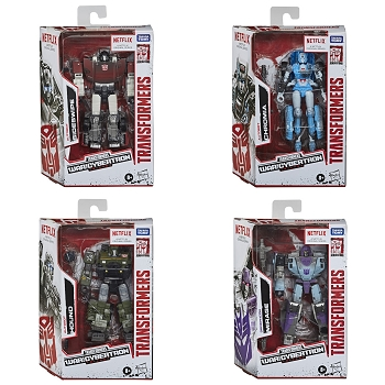 Netflix X Transformers: Siege Deluxe Class Wave 1 Set of 4 (Sideswipe, Chromia, Hound, and Mirage)