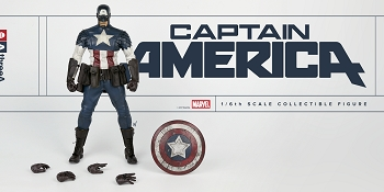 World of 3A MARVEL CAPTAIN AMERICA 1/6th Scale Figure