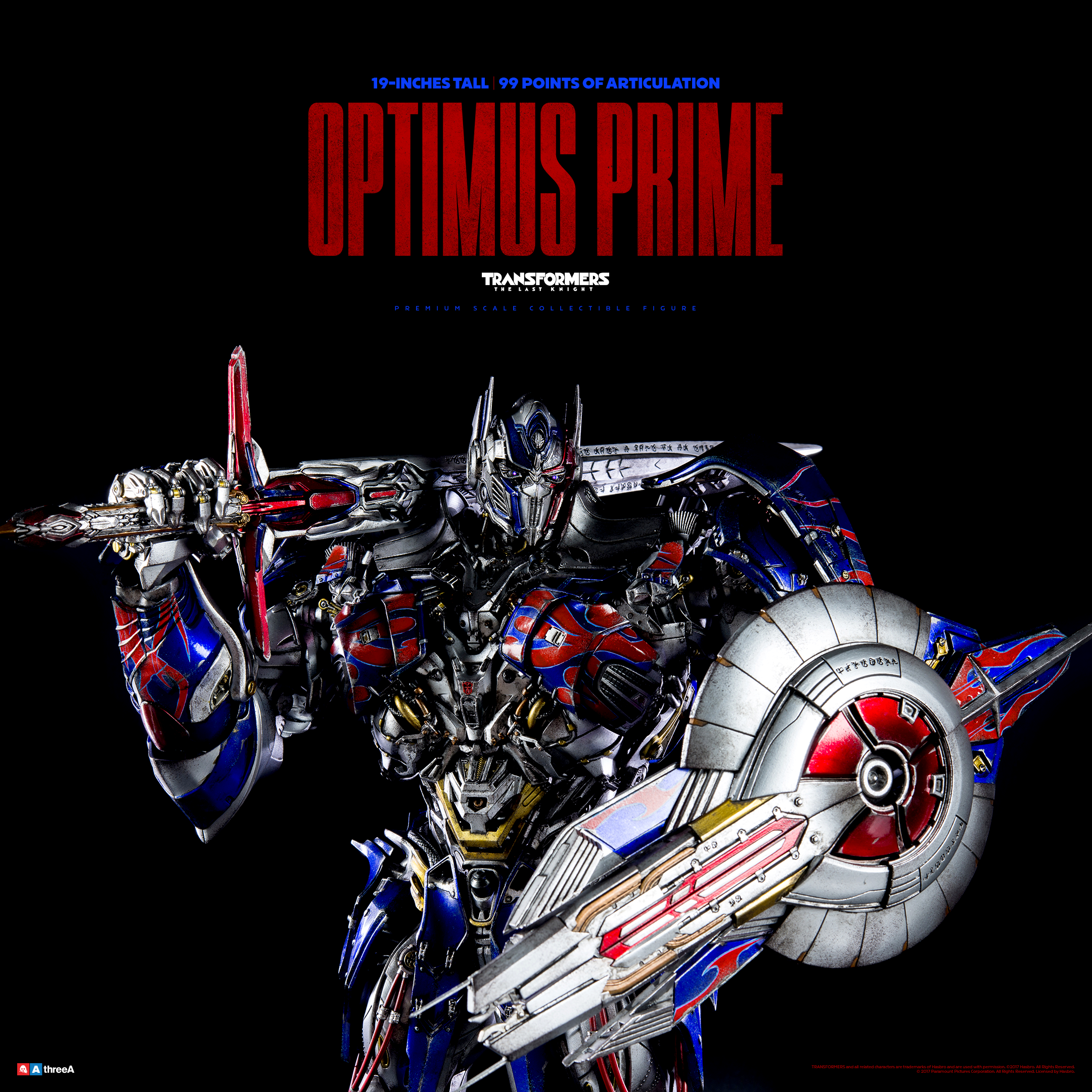 world of 3a the last knight optimus prime from threea